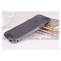 Бампер Black Luxury SWAROVSKI Diamond Aluminium for iPhone 5/5S