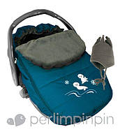 Зимний конверт-чехол для новорожденных в автокресло, коляску ТМ PERLIM PINPIN  (Канада), фото 1