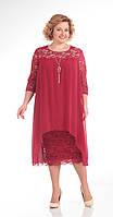 Платье Pretty-642 белорусский трикотаж, бордовый, 56