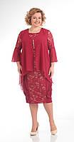 Платье Pretty-643/1 белорусский трикотаж, бордовый, 56