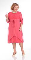 Платье Pretty-645 белорусский трикотаж, розовые тона, 56