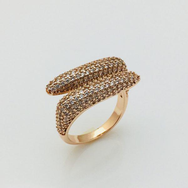 Кольцо перстень, безразмерное позолота 18К Fallon