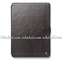 Чехол Кожаный ZENUS Synthetic leather Neo Classic Diary для iPad Air 1 Темно-серый