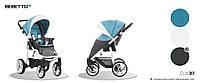 Детская прогулочная коляска Bebetto Nico (SLW37) бирюза с серым
