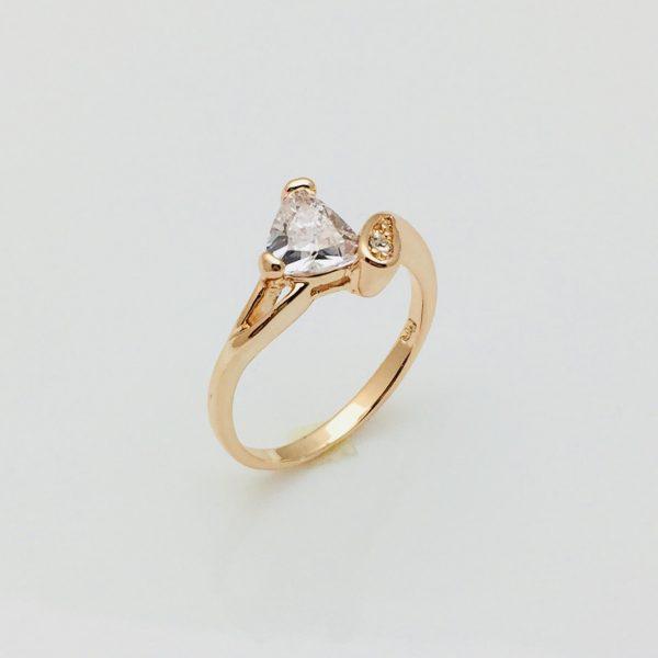 Кольцо Мейзу, размер 17, 18, 19 позолота 18К Fallon