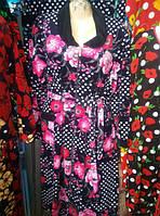 Велюровый женский халат 58-62 рр., фото 1
