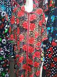 Велюровый женский халат 58-62 рр., фото 2