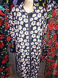 Велюровый женский халат 58-62 рр., фото 4