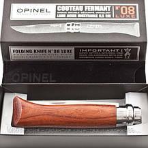 Нож Opinel Inox Lux Bubinga box No.08 226086 (нож+чехол упаковка коробка), фото 2