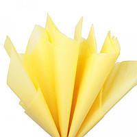Бумага упаковочная Тишью 50*70см - набор 10л. желтая светлая