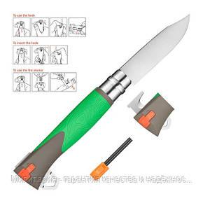 Складаний ніж Opinel (опинель) №12 Inox Explore Green (001899), фото 2