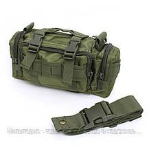Тактическая универсальная (поясная, наплечная) сумка Silver Knight с системой M.O.L.L.E (105-olive), фото 2