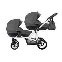 Детская коляска универсальная для двойни 2 в 1 Bebetto 42 (04) темно-серый 503.28.17.004