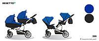 Детская коляска универсальная для двойни 2 в 1 Bebetto 42 (399) синяя 503.28.16.399