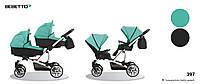Детская коляска универсальная для двойни 2 в 1 Bebetto 42 (397) ментол 503.28.16.397