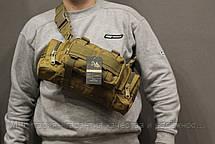 Тактическая универсальная (поясная, наплечная) сумка Silver Knight с системой M.O.L.L.E Coyote (105-coyote), фото 2