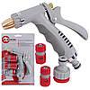 Пистолет-распылитель для полива + Адаптер+конектор+ конектор с аквостопом ,Intertool GE-0014