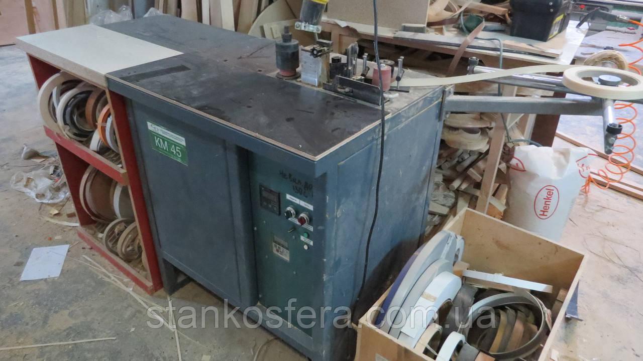 Радиусный кромкооблицовочный станок бу КМ-45