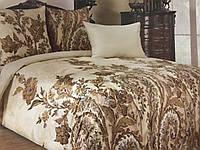 Двуспальный комплект постельного белья с ЕВРО ПРОСТЫНЬЮ, бязь набивная цветы