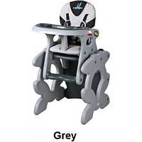 Детский стульчик-трансформер для кормления Caretero Primus серый