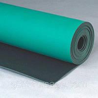 Коврик для рабочего стола (ширина 100см) зеленый, антистатический, термостойкий