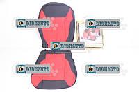 Чехлы сидений 2110, 2111, 2112 черные с красными вставками к-т