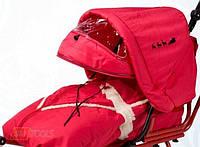 Капюшон для санок Adbor Piccolino, красный 13710