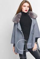 Пальто вязанное с меховым воротником,разные расцветки, с 42-46 размер