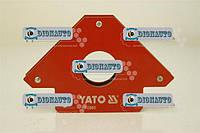 Струбцина магнитная  для сварки 122х190х25 мм 34 кг Yato  (YT-0865)
