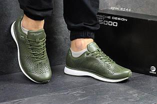 Чоловічі шкіряні кросівки Adidas Porsche Design P 5000,зелені