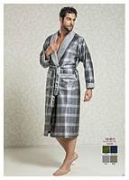 Шелковый банный халат мужской Nusa 8015-1