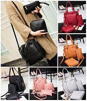 Женская сумка с ручками в наборе сумка клатч через плечо и кошелек Luxury