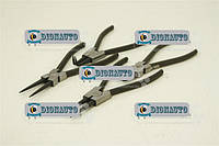 Щипцы для снятия стопорных колец набор 4 предмета 175мм  СИЛА  (310710)