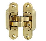Петля скрытой установки с 3D-регулировкой Architect 3D-ACH 40  SG матовое золото прав. 40 кг ( Китай)