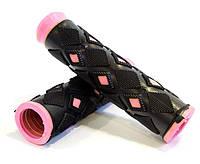 Ручки резиновые для самоката Bavar Sport (зеленый, розовый)