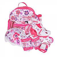 Раздвижные роликовые коньки детский комплект Tempish Flower Baby skate  (размеры 26-29, 30-33, 34-37)