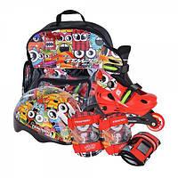 Раздвижные роликовые коньки для детей комплект Tempish Monster Baby skate (размеры 26-29, 30-33, 34-37)