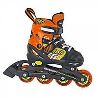 Раздвижные роликовые коньки для детей Tempish Swist Orange (размеры 26-29, 30-33)