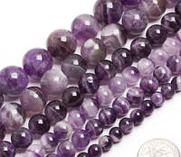 Ожерелье Аметист 40 см Ш 8 мм Натуральный Природный