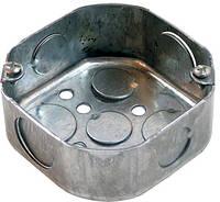 Коробка распаячная для труб металлическая 90х90х40 восьмиугольная, Tarel (Польша)