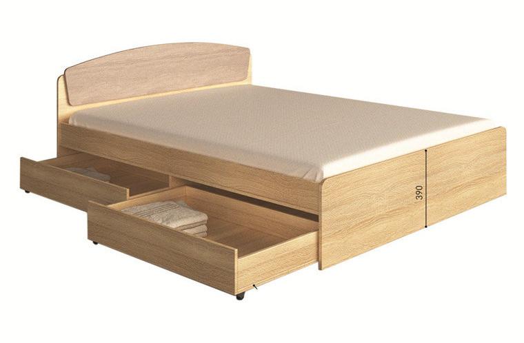 Ліжко Асторія з висувними ящиками (1650х2030х790)