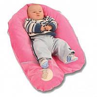 Подушка для беременных и кормления ребенка велюровая (чешуя полбы) Womar (164 х 70 см)