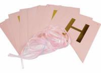 Гирлянда-буквы (по буквенная) Happy Birthday!  розовая  3 м