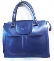 Женская сумка из натуральной кожи цвет синий
