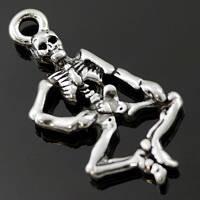 Кулон скелет, цвет: серебро (10 шт) БА 000001850