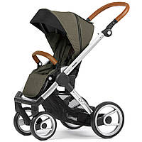 Детская прогулочная коляска Mutsy Evo Industrial Olive шасси Silver, Dark Grey, Black