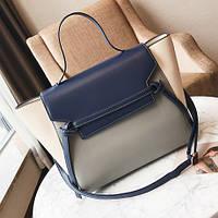 Стильная женская сумка Сeline Belt bag синего цвета