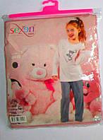 Пижама для девочек. Размер: 2/3-(104), 4/5(116), 6/7 -(128 ), 8/9- (140), 10/11-(152).