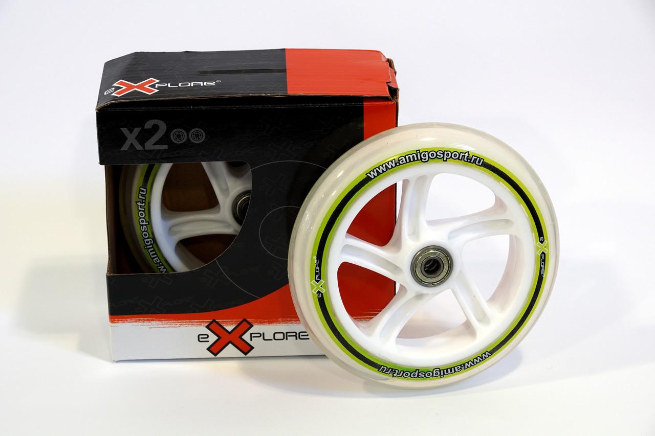 Комплект колес с подшипринками для самокатов, размер 145*30 мм Explore, фото 1
