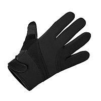 Перчатки неопреновые усиленные кевларом MilTec Black 12524002
